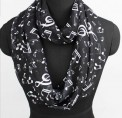 Scarf: Infinity Music Black