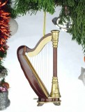 Ornament: Wooden Harp