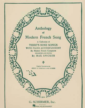 ANTHOLOGY OF MODERN FRENCH SONG (39 SONG