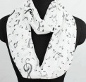 Scarf: Infinity Music White