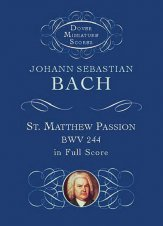 St Matthew Passion Bwv 252-Score-Mini