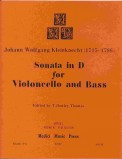 Sonata In D For Violoncello and Bass