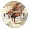 Coaster: Grand Piano With Keyboard Keys