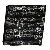 Scarf: Sheetmusic Black