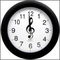 Wall Clock: G Clef