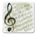 Coasters: Music G Clef (Set of 8)