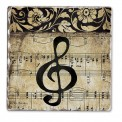 Coasters: G Clef With Music Staff