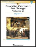 Favorite German Art Songs Vol 2 (Bk/Cd)