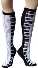 Socks: Knee High Piano Keys