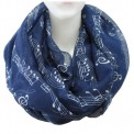 Scarf: Infinity Music Print Navy