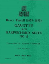 Gavotte From Harpsichord Suite-Vn/Va/Vc