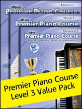 Alfred's Premier Piano Course Lev 3 Pack