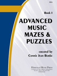 Advanced Music Mazes & Puzzles Bk 1
