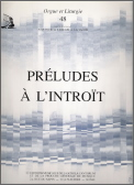Preludes A L'introit (Orgue Et Liturgie)