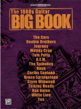The 1980s guitar big book sheet music by ric ocasek sku for 1980s house music