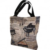 Tote: Piano Tapestry