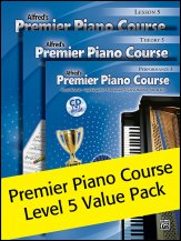 Alfred's Premier Piano Course Lev 5 Pack