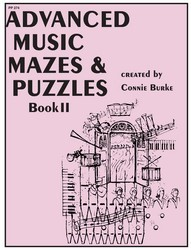Advanced Music Mazes & Puzzles Bk 2