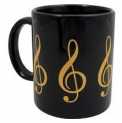 Mug: G Clef Black and Gold