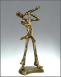 Statuette: Faux Bronze Trumpet Player
