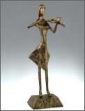 Statuette: Faux Bronze Violin Player 10'