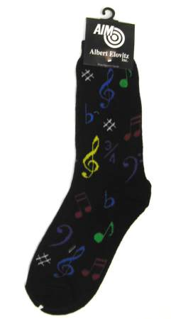 Socks: Notes Multi-Color/Black