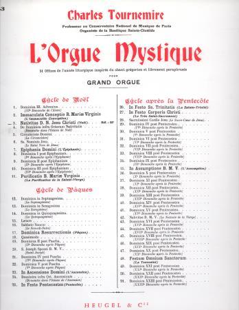 L'ORGUE MYSTIQUE-NOELS NO 3