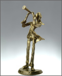 Statuette: Faux Bronze Clarinet Player