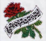 Stickers: Rose With Music Banner