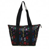 Lunch Bag: Black With Multi Color Notes