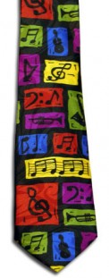 Tie: Music Notes & Symbols-Color