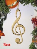 Ornament: Gold Treble Clef