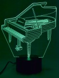 Lamp: 3-D Acrylic Grand Piano (W/Adapter