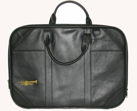 Briefcase: Leather Trumpet (W/Strap)