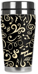 Mug: Musical Notes Travel Mug (16 Oz)