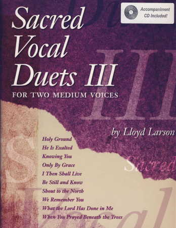 SACRED VOCAL DUETS VOL 3 (BK/CD)