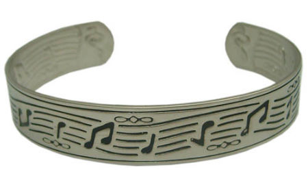 Bangle: Pewter Notes Bangle