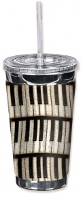 Mug: Piano Keys Travel Mug (16 Oz)