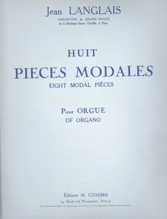 HUIT PIECES MODALES (COMBRE)
