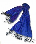 Pashmina Scarf: Royal Blue/Purple