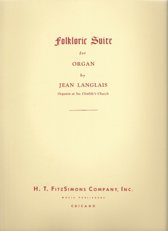 Folkloric Suite For Organ