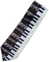 Tie: Keyboard With Staff