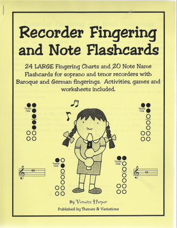 Recorder Fingering and Note Flashcards