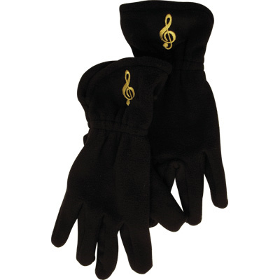 Gloves: Fleece Gloves Treble Clef M/L