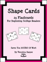 Shape Cards 25 Flashcards For Beginning