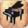 Coaster: Grand Piano/Sheet Music