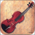 Coaster: Violin/Sheet Music