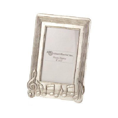 Frame: Pewter Music Note (4x6)