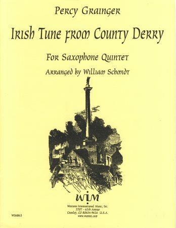 Irish Tune From County Derry Sheet Music by William ...