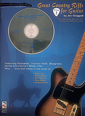 Great Country Riffs For Guitar 1 (Bk/CD